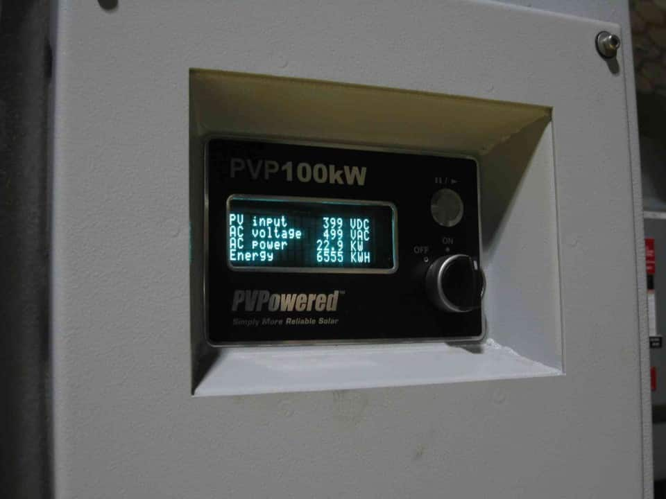 1.3 inverter showing then current energy production
