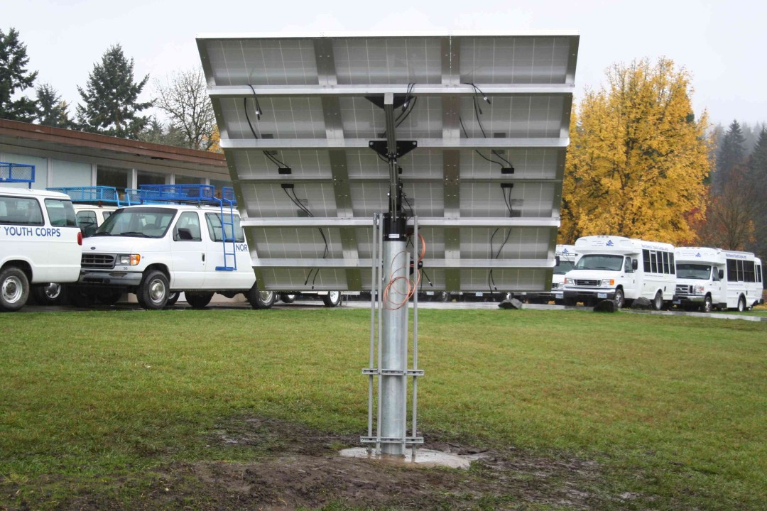 Northwest Youth Corps Solar PV Project pole