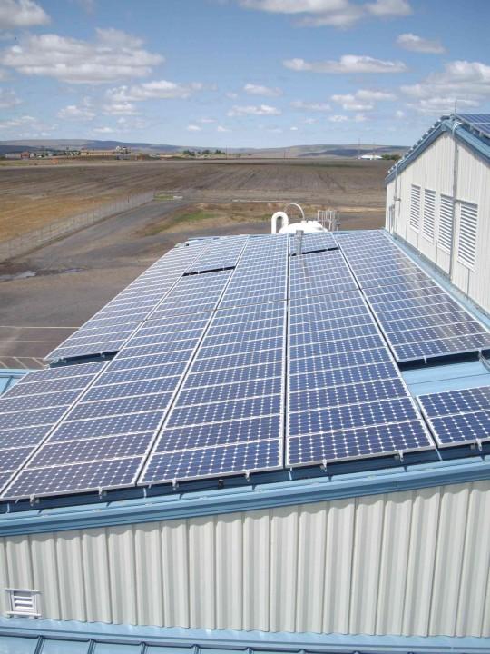 WTP Building North Solar Panels