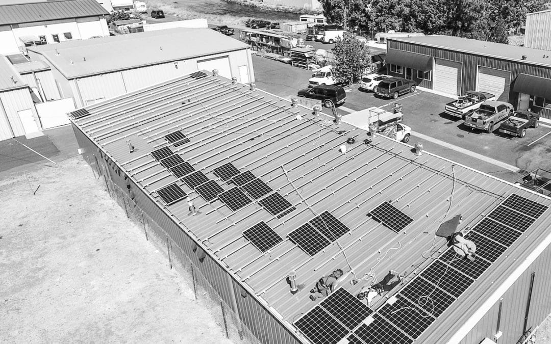 Advanced Energy Systems and Deschutes Growery team up to showcase new solar energy system.